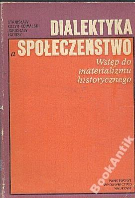 Okładka książki Dialektyka a społeczeństwo