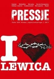 Okładka książki Pressje, teka 25 / 2011. I LOVE lewica