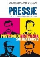 Okładka książki Pressje, teka 21 / 2010. Postmodernistyczna Solidarność