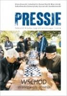 Okładka książki Pressje, teka 15 / 2009. Wschód – strategia czy obsesja?