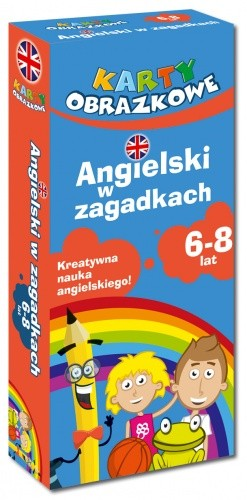 Okładka książki Karty obrazkowe Angielski w zagadkach 6-8 lat