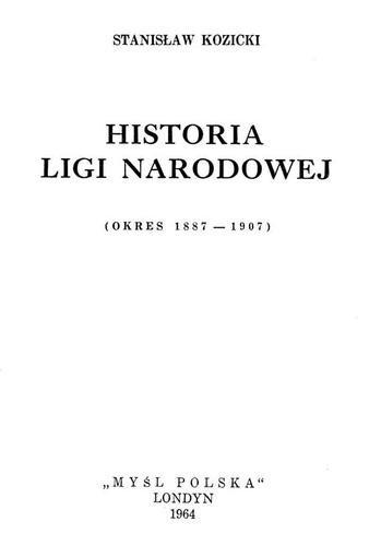 Okładka książki Historia Ligi Narodowej
