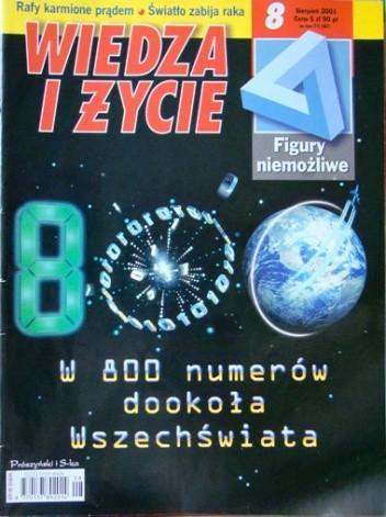 Okładka książki Wiedza i Życie 2001/8 (800)