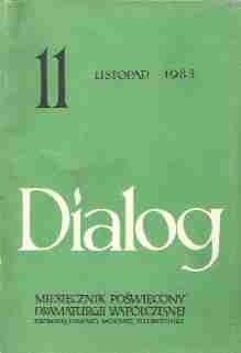 Okładka książki Dialog, nr 11 / listopad 1983
