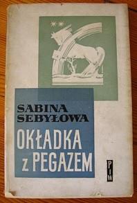 Okładka książki okładka z pegazem