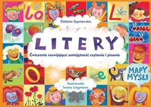 Okładka książki Litery. Ćwiczenia rozwijające umiejętność czytania i pisania