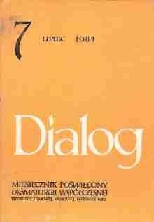 Okładka książki Dialog, nr 7 / lipiec 1984