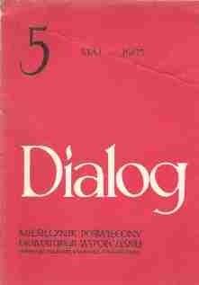 Okładka książki Dialog, nr 5 / maj 1985
