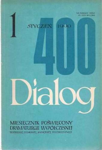 Okładka książki Dialog, nr 1 / styczeń 1990