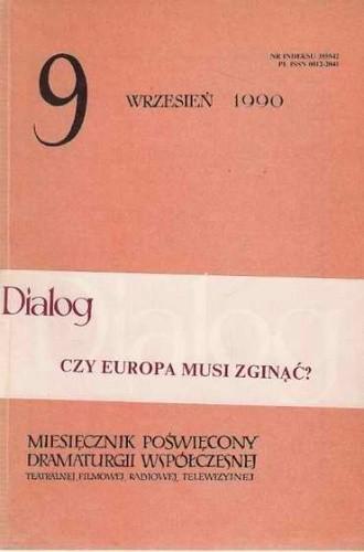 Okładka książki Dialog, nr 9 / wrzesień 1990