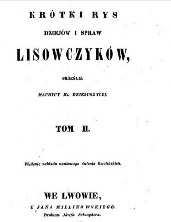 Okładka książki Krótki rys dziejów i spraw lisowczyków (Tom II)