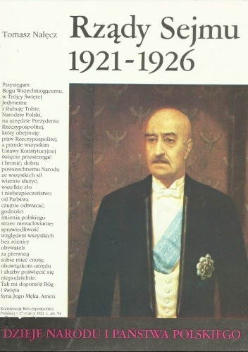 Okładka książki Rządy Sejmu 1921-1926