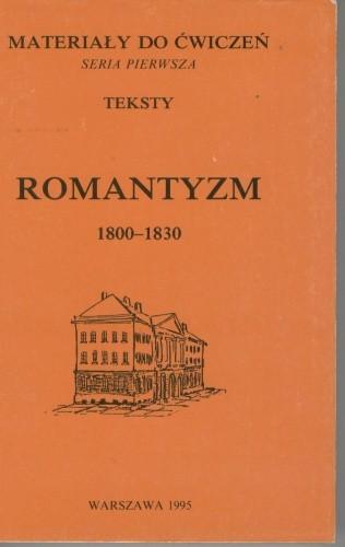 Okładka książki Romantyzm, tom 1. Okres przełomu 1800-1830