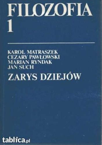 Okładka książki Filozofia 1 Zarys dziejów