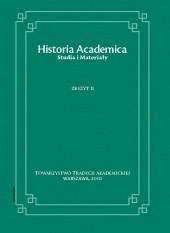 Okładka książki Historia Academica. Studia i Materiały. Zeszyt II/2010