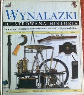 Okładka książki Wynalazki, ilustrowana historia
