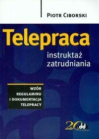 Okładka książki Telepraca Instruktaż Zatrudniania