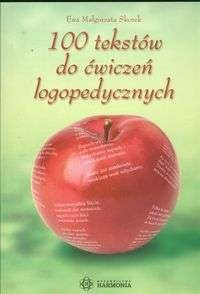 Okładka książki 100 tekstów do ćwiczeń logopedycznych