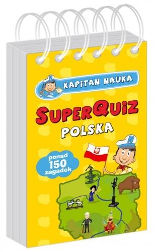 Okładka książki Kapitan Nauka SuperQuiz POLSKA