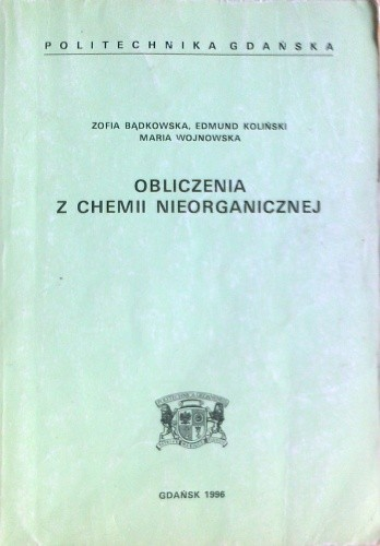 Okładka książki Obliczenia z chemii nieorganicznej