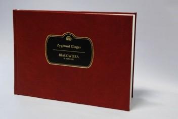 Okładka książki Białowieża w albumie