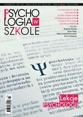Okładka książki Psychologia w Szkole, nr 1 / 2012. Lekcje psychologii