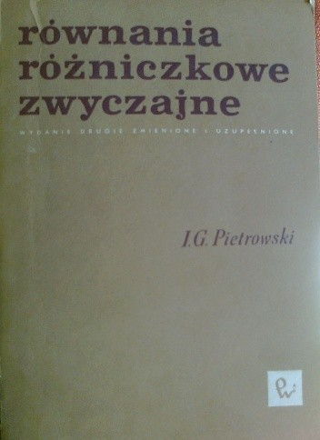 Okładka książki Równania różniczkowe zwyczajne