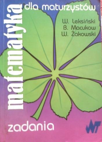 Okładka książki Matematyka dla maturzystów zadania