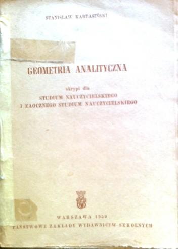 Okładka książki Geometria analityczna