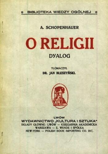Okładka książki O religii. Dyalog
