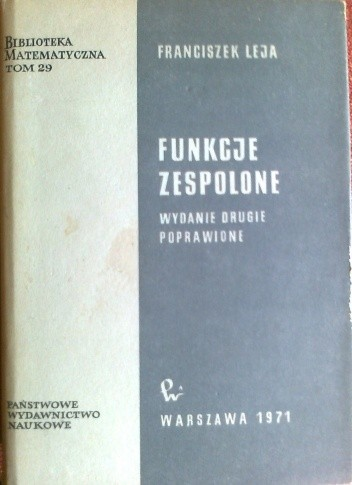 Okładka książki Funkcje zespolone