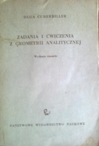 Okładka książki Zadania i ćwiczenia z geometrii analitycznej