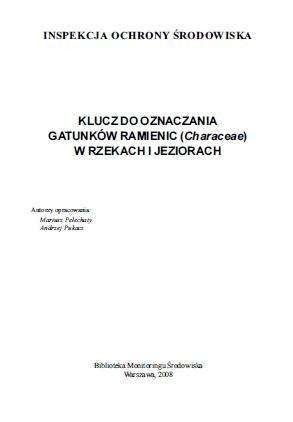 Okładka książki Klucz do oznaczania gatunków ramienic (Characeae) w rzekach i jeziorach