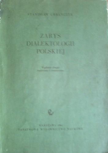 Okładka książki Zarys dialektologii polskiej