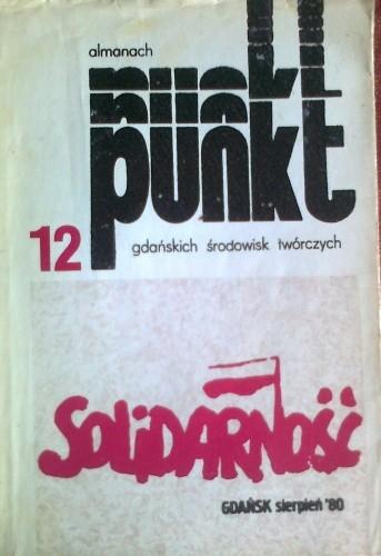 Okładka książki 12 punkt, almanach gdańskich środowisk twórczych