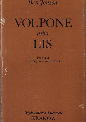 Okładka książki Volpone albo Lis