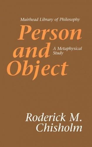 Okładka książki Person and Object: A Metaphysical Study