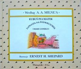 Okładka książki Kubuś Puchatek zaprasza na podwieczorek i małe conieco