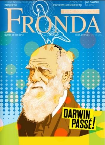 Okładka książki Fronda nr 63 rok 2012, Darwin, Passé!