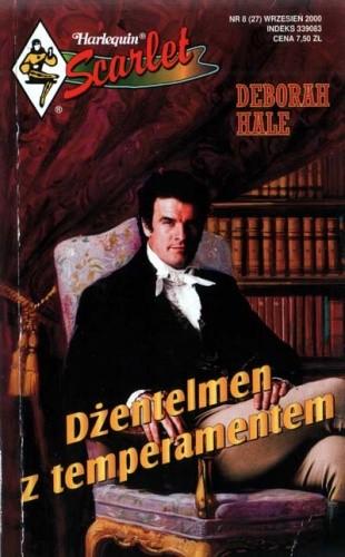 Okładka książki Dżentelmen z temperamentem