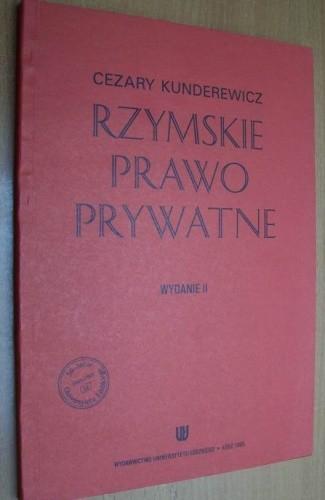 Okładka książki Rzymskie prawo prywatne