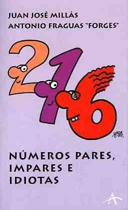 Okładka książki Números pares, impares e idiotas