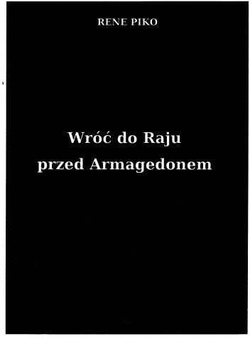 Okładka książki Wróć do Raju przed Armagedonem