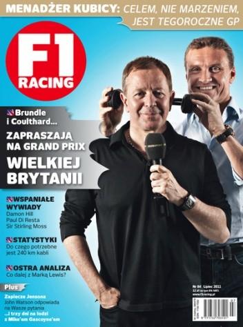 Okładka książki F1 racing nr 84