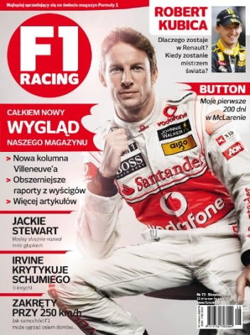 Okładka książki F1 racing nr 73