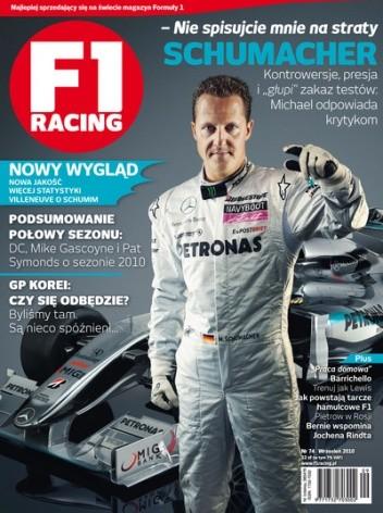 Okładka książki F1 racing nr 74