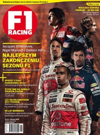 Okładka książki F1 Racing nr 11/2010
