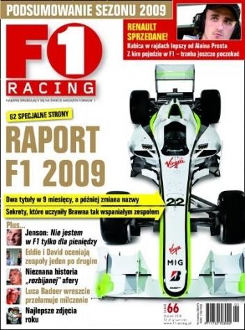 Okładka książki F1 racing nr 66