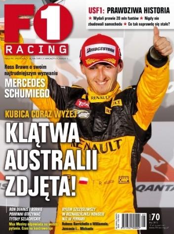 Okładka książki F1 racing nr 70