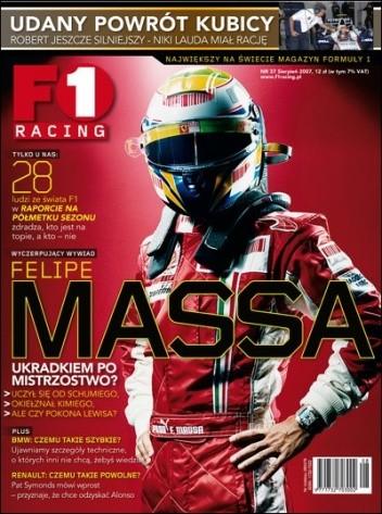 Okładka książki F1 Racing nr 8/2007